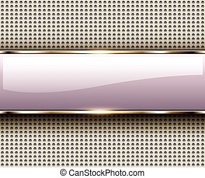 Abstract background with glossy banner, elegant vector...