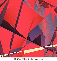 Retro geometric background with colorful triangles on...