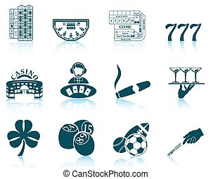 Set of gambling icons. EPS 10 vector illustration without...