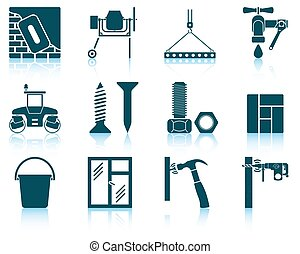 Set of construction icons EPS 10 vector illustration without...