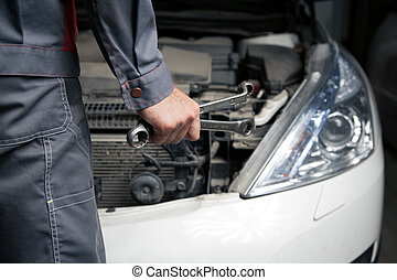 Car mechanic. Auto repair service.