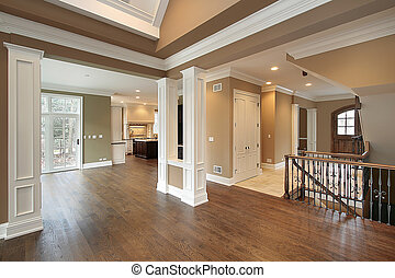 Foyer and dining room - Foyer and family room in new...