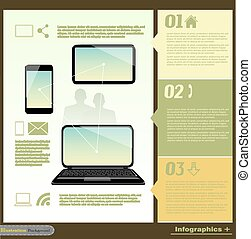 comunicação, infographic, illustrat,
