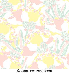 Seamless pattern with hand drawn peony flowers