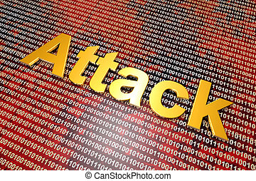 Digital Attack and Cyberwar - Digital attack on binary code...