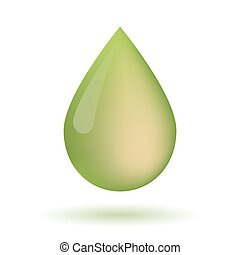 Olive oil drop icon - Illustration of an isolated olive oil...