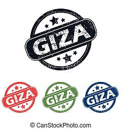 Round Giza city stamp set - Set of four stamps with name...