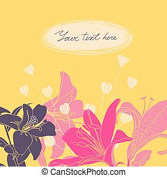 Vector Floral card with place for your text.