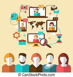 コミュニケーション, ネットワーク, 社会