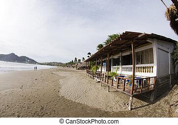 typical beachfront restaurant san juan del sur nicaragua -...