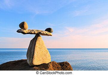 Equilibrium on boulder