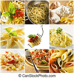 Pasta - Beautiful pasta collage made from nine photographs