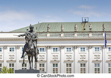 Presidential Palace in Warsaw, Poland Before it: Bertel...