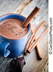 gorący, czekolada