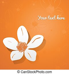 Vector illustration with flower.