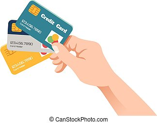 Holding credit card Illustrations and Stock Art. 4,254 Holding ...