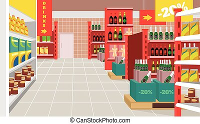 Clip Art Supermarket Clipart supermarket shelf clipart and stock illustrations 2066 vector flat illustration