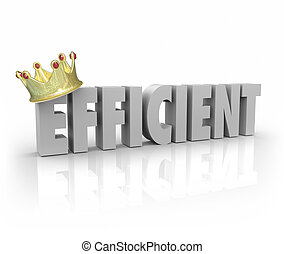 Efficient Crown 3d Word Effective Productive Performer...
