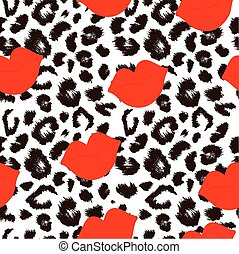 Leopard print pattern. Repeating seamless vector animal...