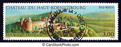 Postage stamp France 1999 Haut-Koenigsbourg Castle - FRANCE...