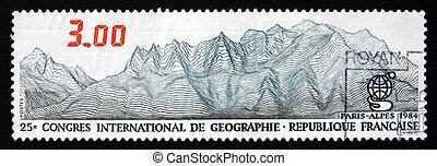 Postage stamp France 1984 Alps