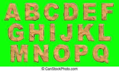 Claymation Font and Background - a loop-able animated font...