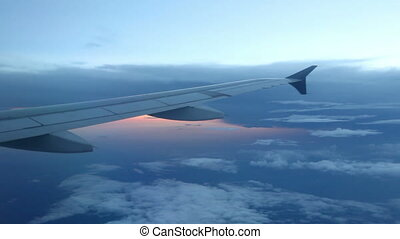 Peaceful View from Plane Window - Looking out a jet window...