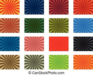 Glory stripes - Colorful vector sunburst background pack
