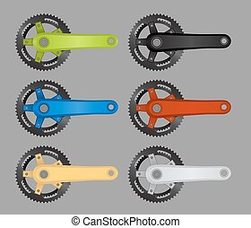 Bike chainring - Vector pack of bike chainrings
