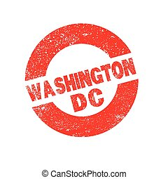 Rubber Ink Stamp Washington DC - A rubber ink stamp with the...