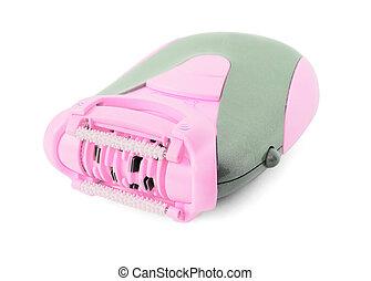Pink epilator - Pink electric epilator isolated on white