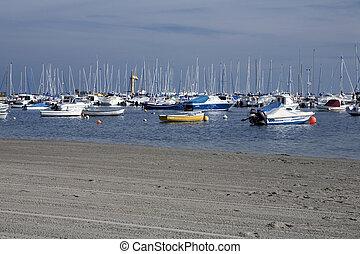Los Alcazares beach - A marina and beach promenade in Los...