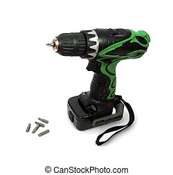 Electric screwdriver - Blue cordless electric screwdriver...