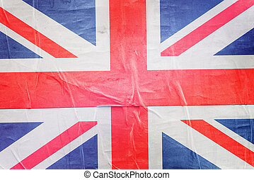 Great Britain Flag Print on Grunge Poster Paper - Great...