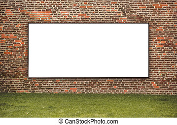 Blank Advertising Billboard on the Street for Outdoor Ad...