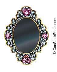 Diamond Mirror Frame - Mirror frame made of gems