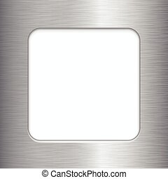 Brushed Metal Frame - Vector brushed metal frame with copy...