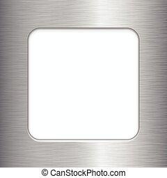 Brushed Metal Frame - Vector brushed metal frame with copy...