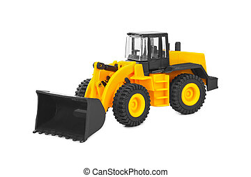 Toy loader isolated on white background