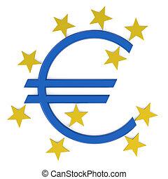 European Central Bank isolated on white background