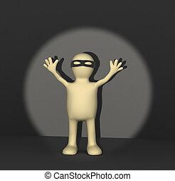 Crime stop - Conceptual 3d image - crime stop