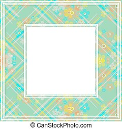 abstract floral border
