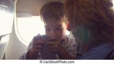 They have good time with smart phone in plane - In the plane...