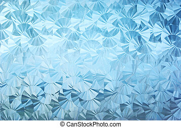 textured patterned glass - Blue textured patterned glass...