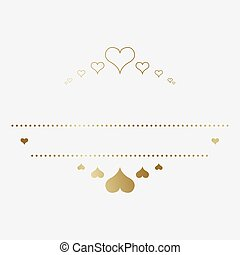 Design template with hearts