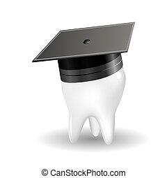 graduation tooth - The concept of producing doctors...