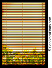 Ancient Japanese reed mat - Background - an ancient...