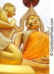 gold Buddha be enshrined - This is Gold Buddha statue in the...