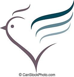 Chicken logo - Sign, stylized silhouette chicken Logo design...