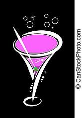Vector pink martini